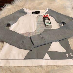 NWT Under Armour Large Youth Girls Sweatshirt